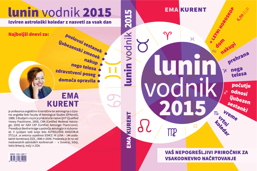Cover design for the Lunar Calendar in Slovenian