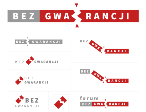 "Logo design for Bez Gwarancji (""No warranty"")"