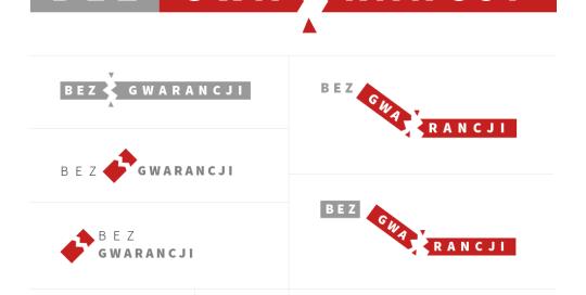 """Logo design for Bez Gwarancji (""""No warranty"""")"""