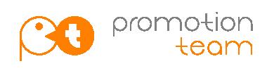 Logo design for Promotion Team   Logos by the graphic designer Gregory Rozek   orange vector logo advertising media