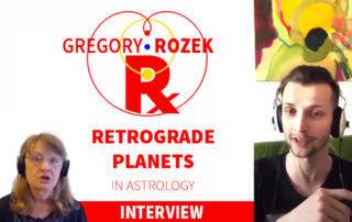 Interview with Gregory Rozek on Retrograde Planets in astrology (interviewer Mary English) 2020 YouTube video
